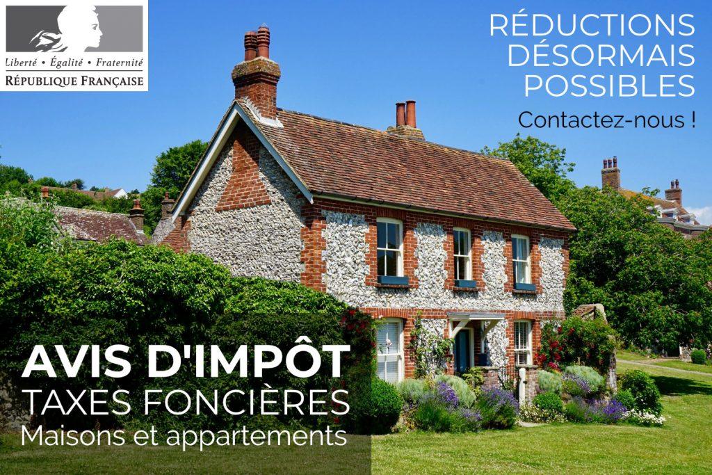 Réduction de taxes foncières maisons et appartements