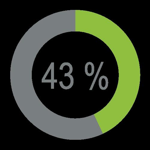 Economie 43 %