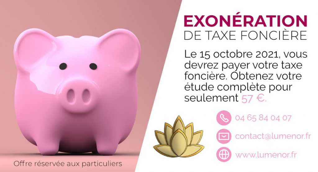 Réduction de taxe foncière pour les particuliers